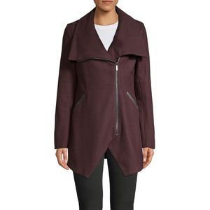 French Connection plum wool coat